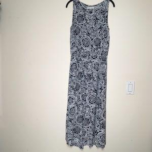 CABI Twirl Dress 314 Blue White Pockets Size Med
